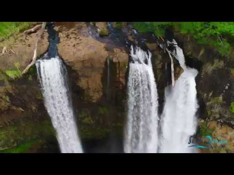 Phantom 4 Pro Waimea Canyon Wailua Falls Kauai, Hawaii 4K Drone Flight 2017 Hanalei Waikoko Beach