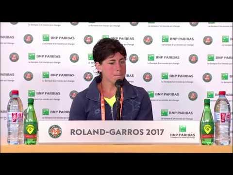 Carla Suárez Navarro Press Conference RG17 - 5th of June
