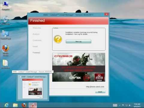 How to Uninstall AMD Catalyst Install Manager 8 on Windows 8