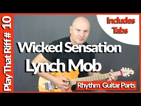 Wicked Sensation by Lynch Mob Guitar Lesson Play That Riff #10