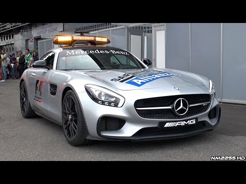 2015 Mercedes AMG GT S F1 Safety Car - Lovely Sound @ Track!