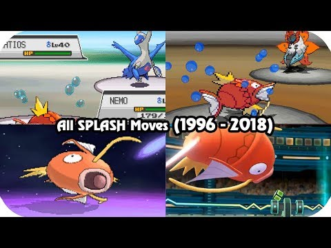 Evolution of Pokémon Moves - MAGIKARP'S SPLASH (1996 - 2018)