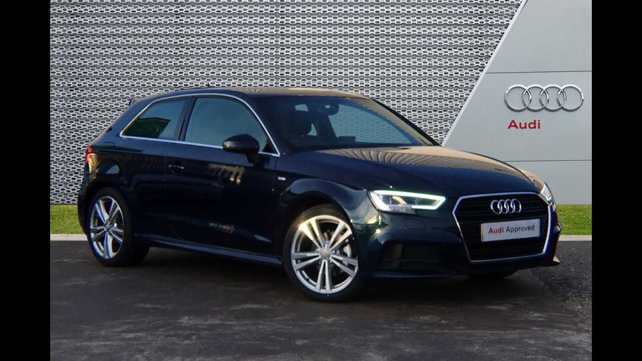 Rk17nlc Audi A3 Hatchback Cosmos Blue Slough Audi Youtube