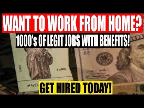 WORK FROM HOME! 1000'S Of Legit, Remote Jobs No Experience Needed! APPLY TODAY!
