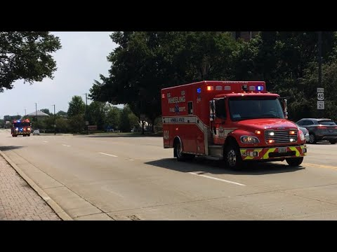 Wheeling IL Fire Department Ambulance 24 and Engine Co. 42 Responding