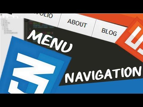 LE MENU DE NAVIGATION - CREER UN SITE ? HTML/CSS #3