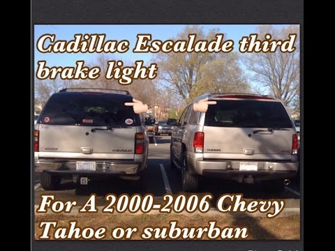 How remove Cadillac Escalade rear hatch with third brake ...