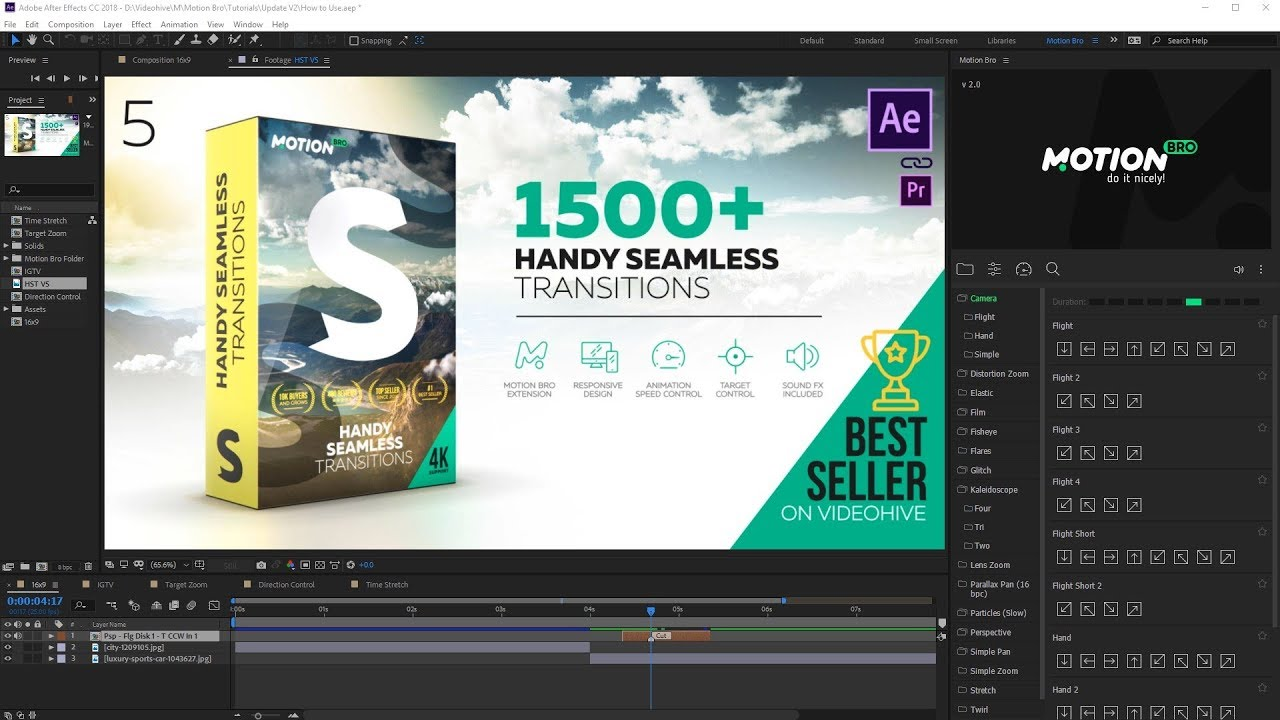 What's new in Handy Seamless Transitions V5? by videolancer