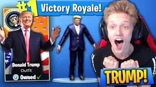 The DONALD TRUMP Challenge In Fortnite: Battle Royale! (ONLY BUILD WALLS!)