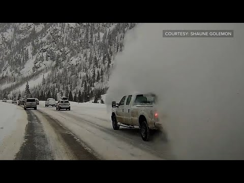 Man describes being caught in an avalanche on a Colorado highway