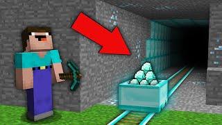 Minecraft NOOB vs PRO: NOOB FOUND LEGENDARY DIAMOND RAILWAY IN MINE! Challenge 100% trolling