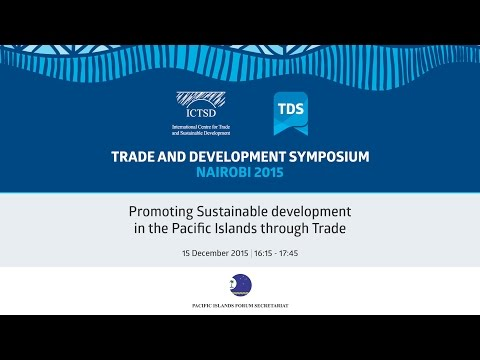 TDS LIVE | Promoting Sustainable development in the Pacific Islands through Trade
