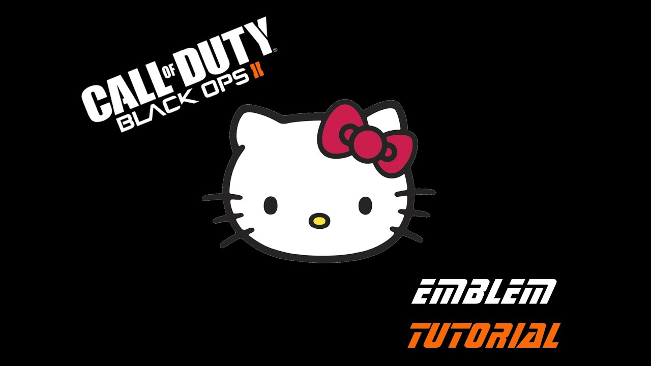 Hello Kitty Pink Cute Wallpaper Black Ops 2 Hello Kitty Emblem Tutorial Youtube