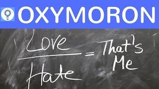 Oxymoron - Was ist ein Oxymoron? Erklärung, Wirkung & Beispiele | Rhetorisches Stilmittel / Figur