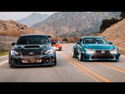 WIDEBODY WRX EVO & RCF INSANE CANYON RUN SHOOT!