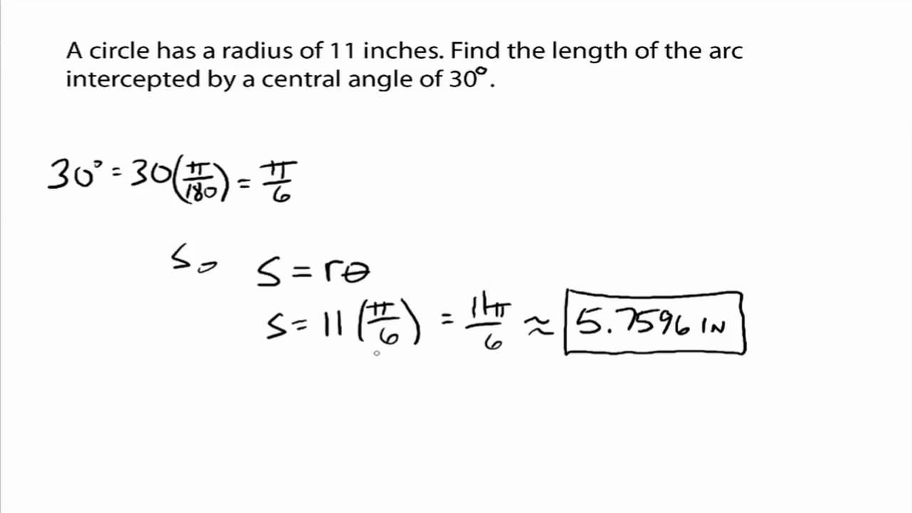 how to find the area of an arc