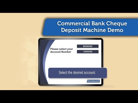 Commercial Bank Cheque Deposit Machine Demo