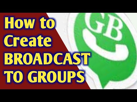 How to Create Message Broadcast to Groups (including all groups) in GB Whatsapp Tamil Tutorial.