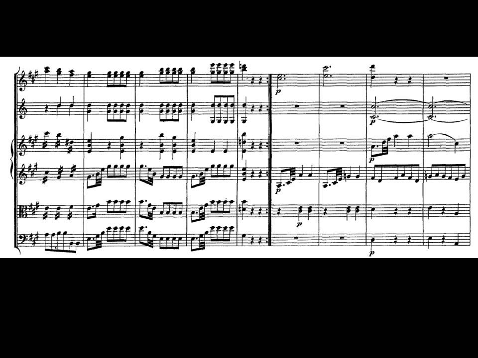 Mozart. Sinfonía nº 21 en La mayor Kv 134 I-Allegro - YouTube