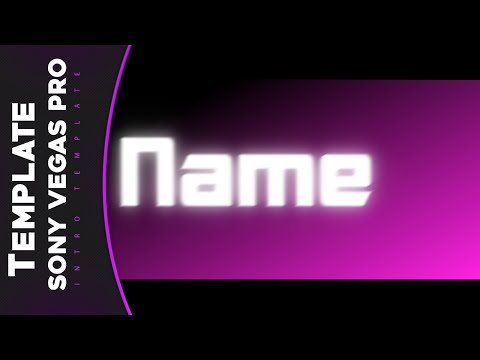 Free Intro 2D Template Sony Vegas Pro12