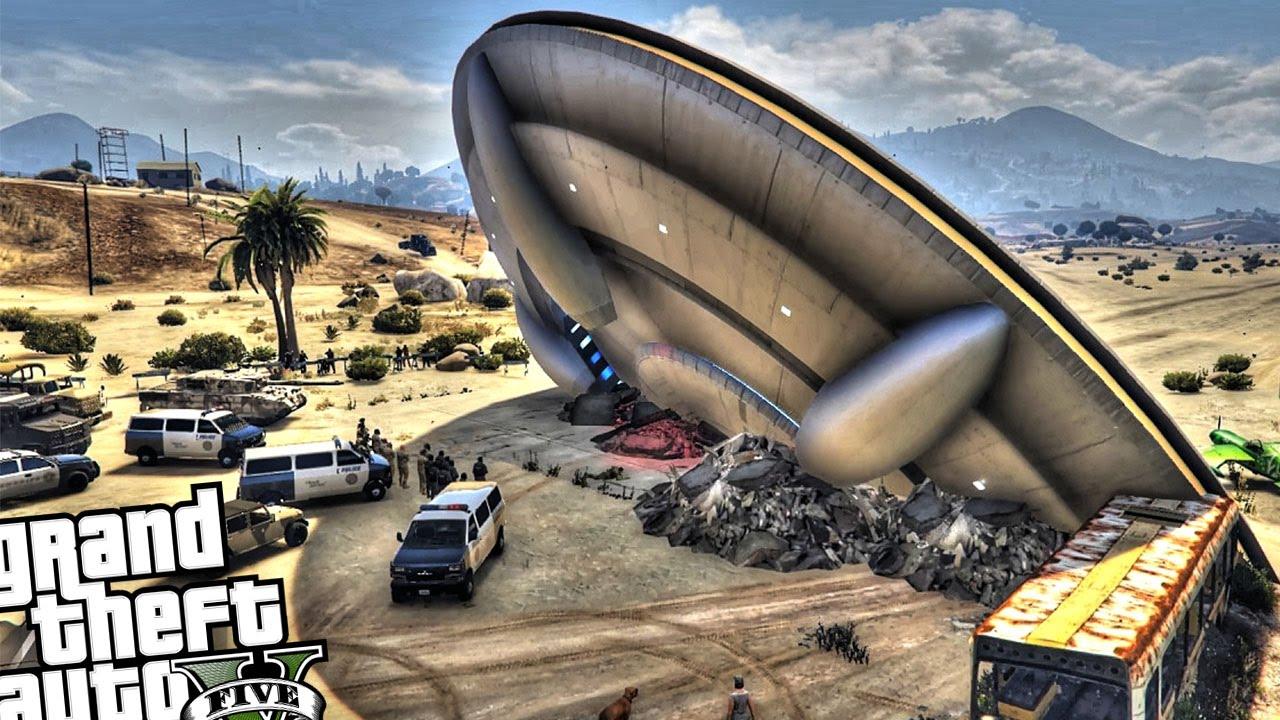 UFO Crash - GTA 5 MOD