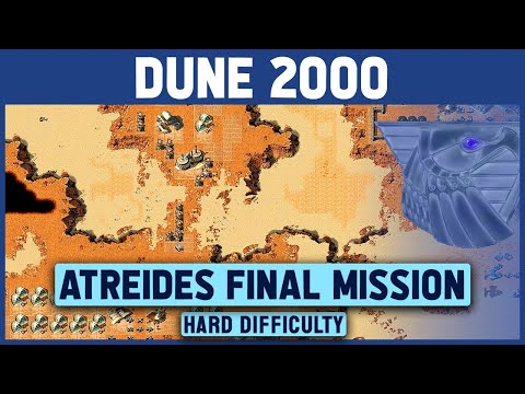 Dune 2000 - Atreides Final Mission (Right Map) - Hard Difficulty - 1920x1080
