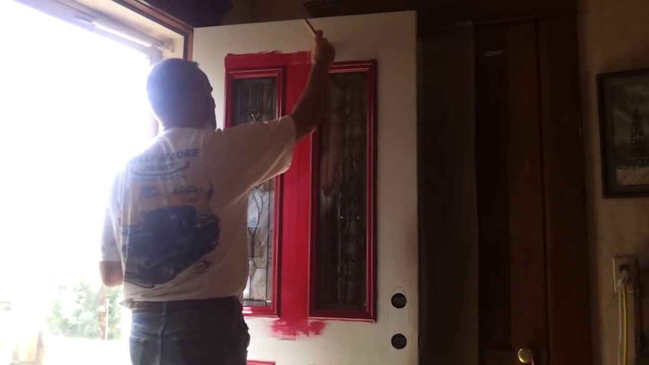 Painting A Metal Front Door How To Paint A Door Without Leaving Brush Marks Tips Youtube