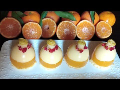 تحلية-بالبرتقال-باردة-في-دقائق-لذيذة-و-سريعة-التحضير-عجيبة-لذيذة-ومنعشة-😋-فلان-بالمندرين/-الفناجين