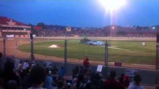 adelaide monster truck rumble 18/2/12. Freestyle roll over.