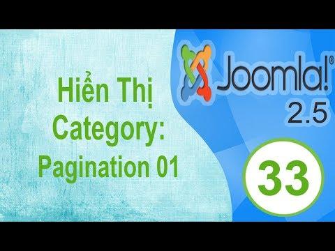 Lập Trình Joomla - Bài 33: Hiển Thị Category: Pagination 01
