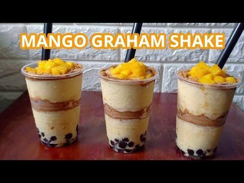 Mango Graham Shake   Mango Graham Shake With Sago