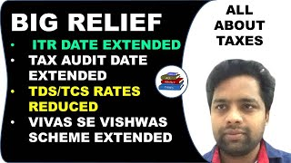 LIVE SESSION ON RELIEF PACKAGE WITH CA MANOJ GUPTA I ITR DATE EXTENDED I