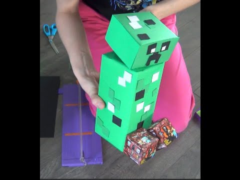 Minecraft Creeper Diy Easy Gift Ideas Tutorial Household Items For A Rocking You