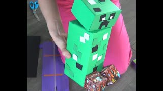 Minecraft Creeper DIY- Easy Gift ideas - DIY Minecraft Tutorial - Household items for a rocking gift