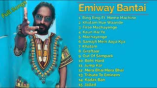 Emiway Bantai latest 2020 - 2021 song collection | #jukebox song collecton New Hits RING RING