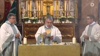 Katholischer Gottesdienst an Fronleichnam 04.06.2015 Kloster Speinshart Diözese/Bistum Regensburg