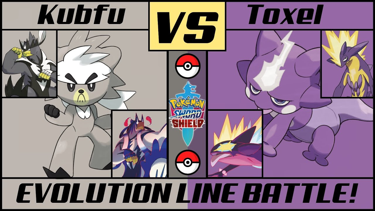 KUBFU vs TOXEL - Pokémon Evolution Line Battle