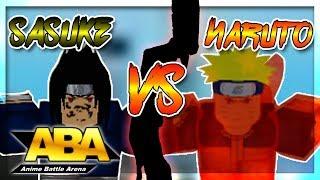 NARUTO VS SASUKE IN ABA   Anime Battle Arena   Roblox   ft. Spritz
