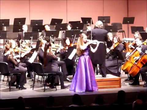 Lily Dunlap - Mozart Violin Concerto no. 4 on 2/18/17