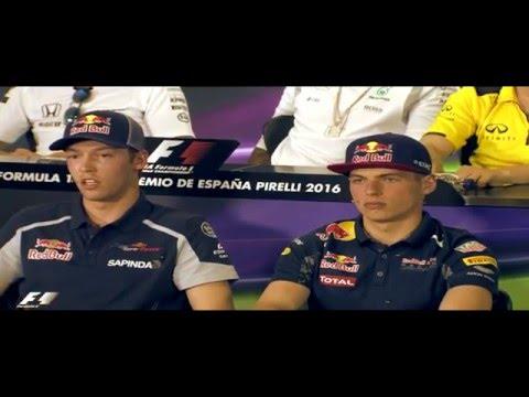 F1 2016 Spanish GP Press Conference ||| Sainz, Kvyat, Max Verstappen, Alonso, Hamilton and Magnussen