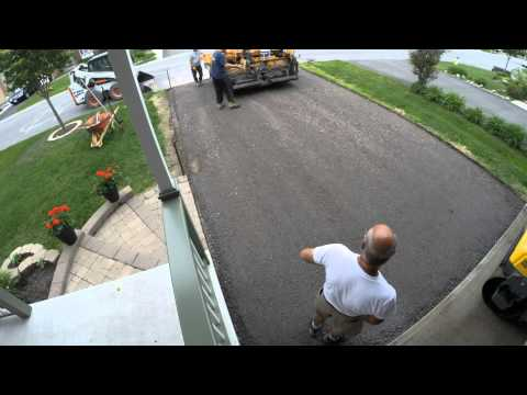 Time Lapse of a  Driveway Peel & Pave
