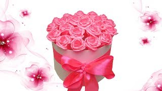 How to Make a Gift Box With Paper Roses