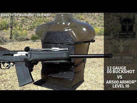 12 Gauge 00 Buckshot vs. AR500 Armor® Level III Body Armor