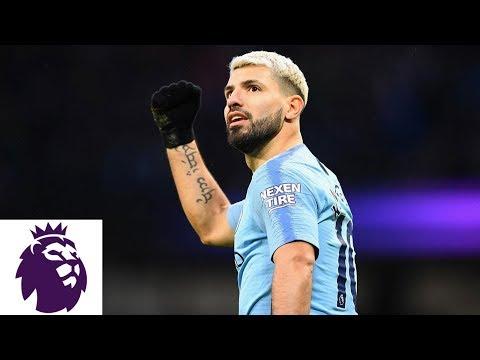 Man Citys Sergio Aguero finds hat trick against Arsenal | Premier League | NBC Sports