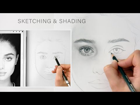 How to draw from a reference photo, sketching and shading a portrait   Emmy Kalia