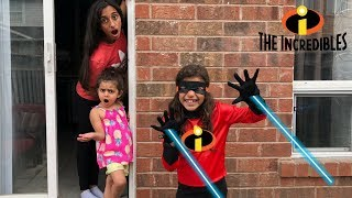 kids pretend play The Incredibles 2 !! family fun video