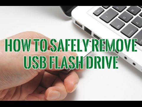 How to Safely Remove USB Flash Drive and Why It's Necessary