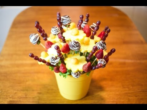 How to make Edible Fruit Bouquet Arrangements!