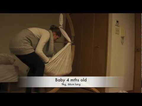Medium image of miyo baby hammock part 2   how to place baby in hammock