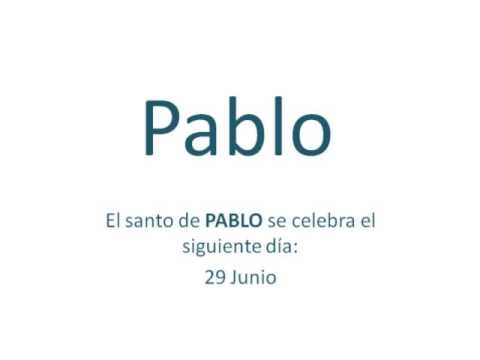 Significado y origen del nombre Pablo